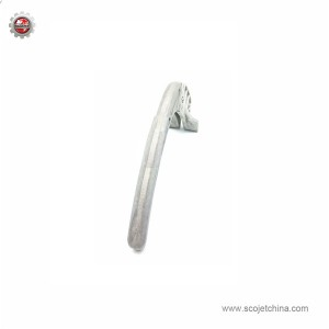 Die casting handle for tile cutter
